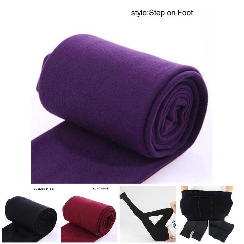 Women Heat Fleece Winter Stretchy Leggings Warm Fleece Lined Slim Thermal Pants PO66