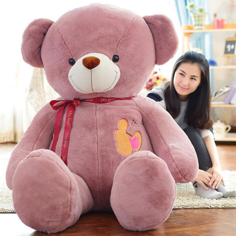 High Quality 160CM Kawaii Thumbs Hug Bear Creative Stuffed Kids Gift Bear Doll Plush Baby Doll Toys For Birthday Gift Toys mini kawaii plush stuffed animal cartoon kids toys for girls children baby birthday christmas gift angela rabbit metoo doll