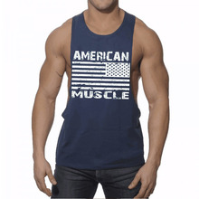 2017 New Brand Men Tank Tops Boy Bodybuilding Fitness Mens Tank Tops Clothing Sleeveless Stringer Mens Undershirts