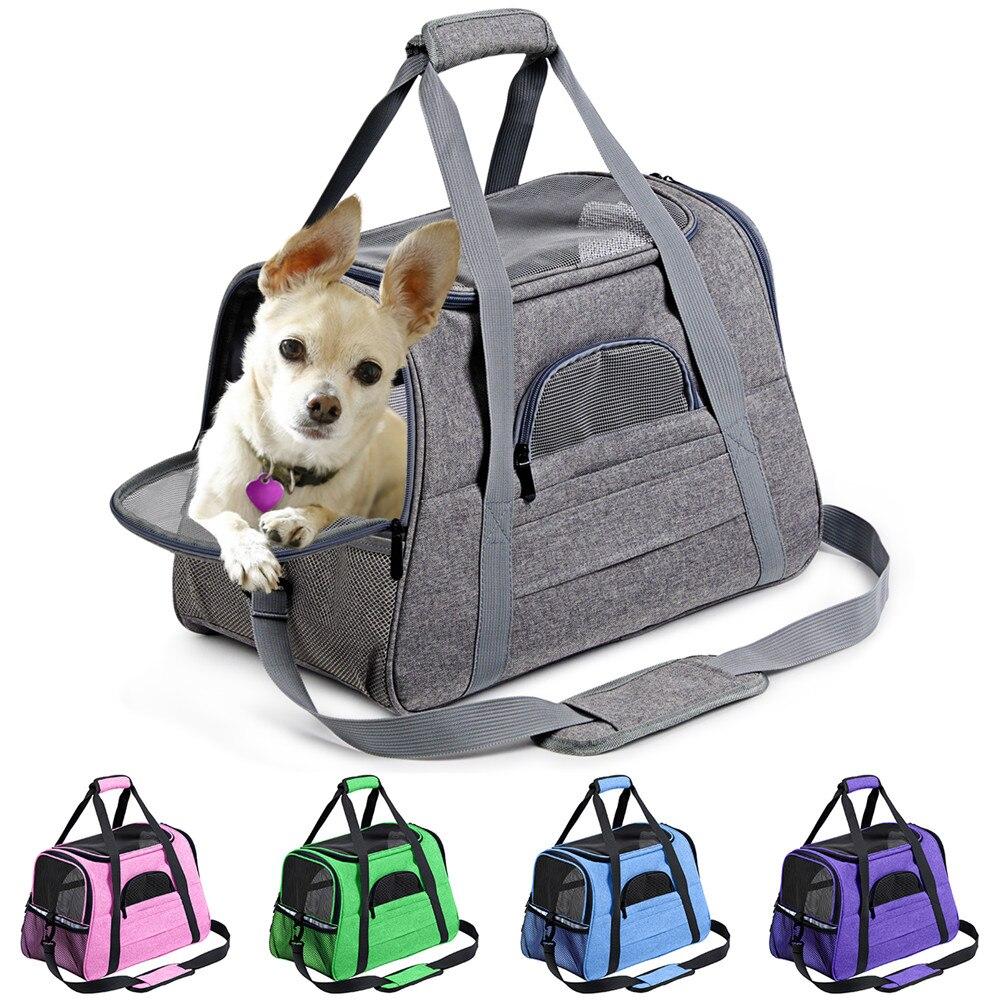 Pies przewoźnik przenośny plecak na zwierzę Messenger kot przewoźnik wychodzący mała torba podróżna dla psów miękka strona oddychająca nosidełko na zwierzaka dla kota