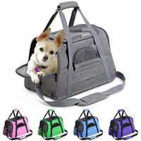 Porte-chien Portable sac à dos pour animaux de compagnie messager chat transporteur sortant petit chien sac de voyage doux côté respirant transporteur pour animaux de compagnie pour chat