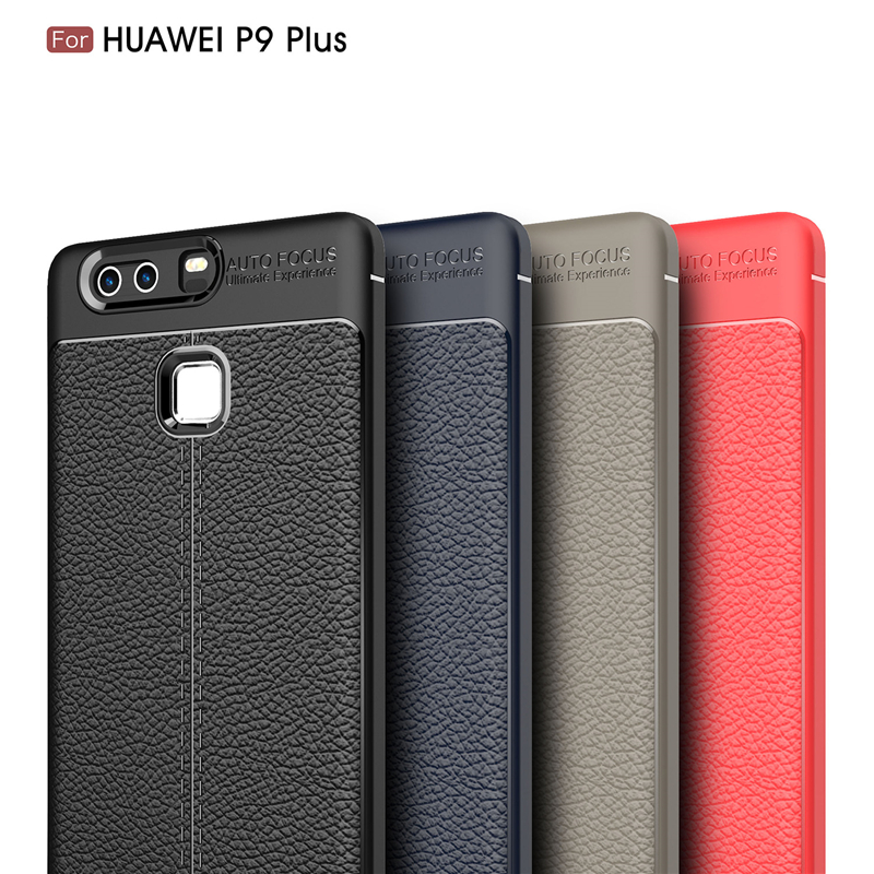 Huawei P9 Plus Case Silicone Coque Fundas Luxury Litchi Texture PU Leather Phone Cases For Huawei P9 Plus Soft TPU Cover Case