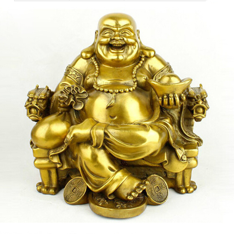 Opening The Light Maitreya Buddha Figurine Laughing Buddha Car Furnishing Articles Pot-bellied Buddha Crafts Home Decoration