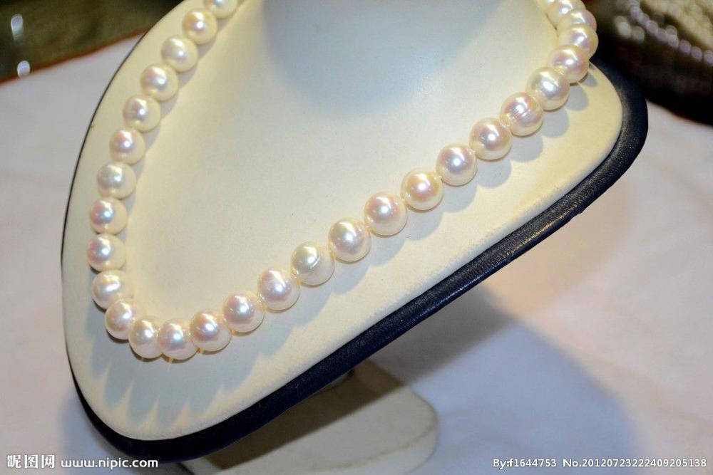 Collier de perles blanches deau douce 11-12mm 18 pouces argent 925Collier de perles blanches deau douce 11-12mm 18 pouces argent 925
