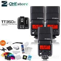 Godox Thinklite 3 * TT350C ttl 2,4G вспышки Speedlite + WirelessTransmitter X1T C для Canon EOS 5D 6D 1100D 800D M5 M3 7D 6D 5D3 5DIV