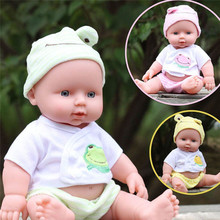 Free Shipping 12inches Reborn Baby Doll Soft Vinyl Silicone Lifelike Newborn Baby for Girl Gift Baby Girls Toys