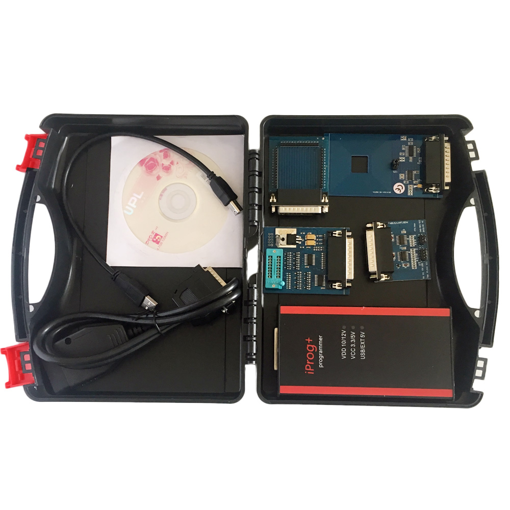 2019 Iprog+ Programmer Multi-function Diagnostic & Programming Tool Mileage Correction + Airbag Reset +IMMO+EEPROM