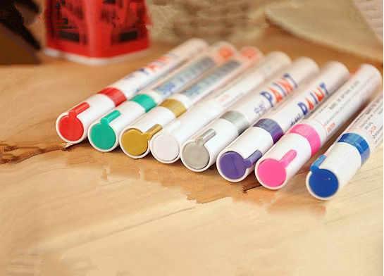In de verf pen SP-110 witte verf pen pen direct tire Kras reparatie Pak pen Olie Paints