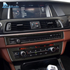 Car Interior Carbon Fiber Refit CD Central Panel Sticker AC Control Panel Decoration For BMW 5