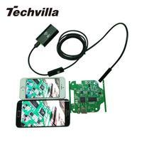 Techvilla 8ミリメートルワイヤレス無線lan内視鏡防水ip67ボアスコープ検査led 3.5/2/1.5/1メートルハードケーブルチューブヘビhd 1.0mpカマ