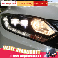 2Pcs LED Headlights For Honda VEZEL 2014 2017 led car lights Angel eyes xenon HID KIT Fog lights LED Daytime Running Lights