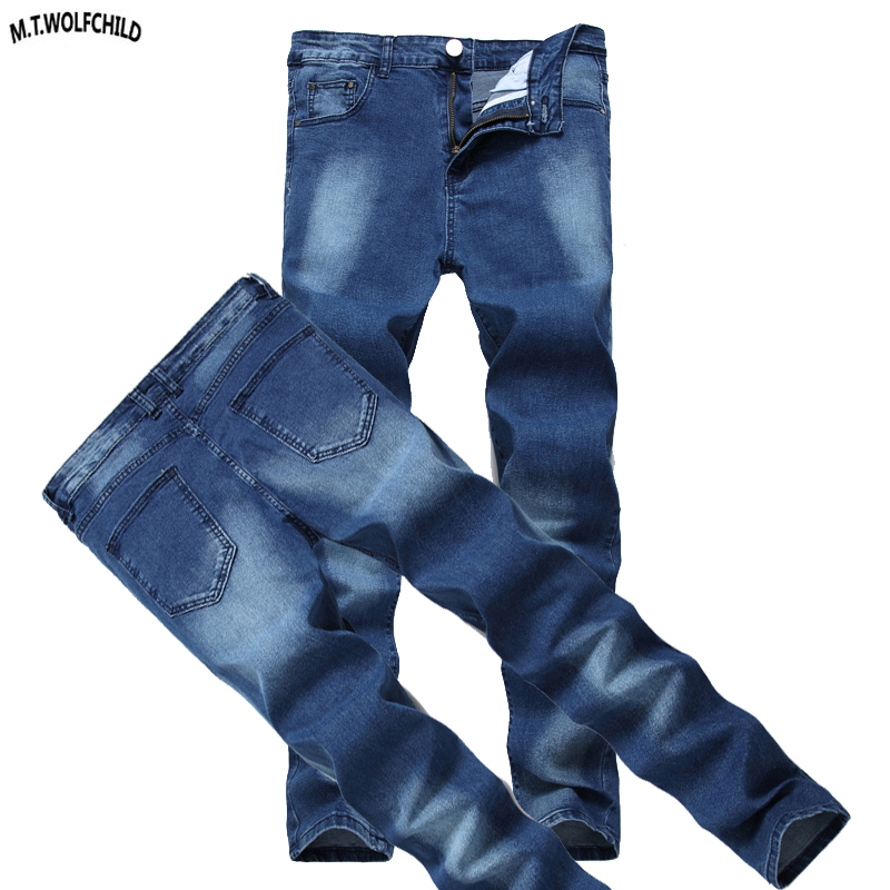 Fashion 2018 New Mens Denim Long Pants Casual Distressed Male Jeans Masculino Trousers Mens Straight Jeans Spring Slim Jeans