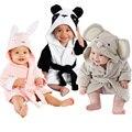 Bebé Con Capucha Toalla de Baño Albornoz de la Historieta Animal Baño Toalla de Baño Robe