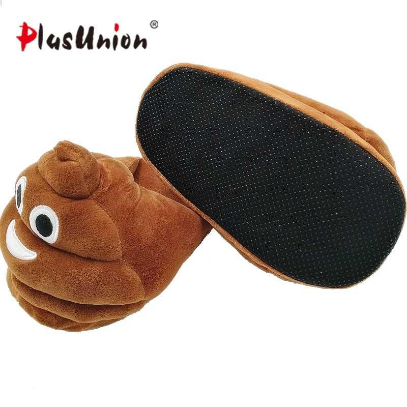 92edabe14ca ... plush winter emoji slippers indoor animal furry house home men slipper  with fur anime women cosplay ...