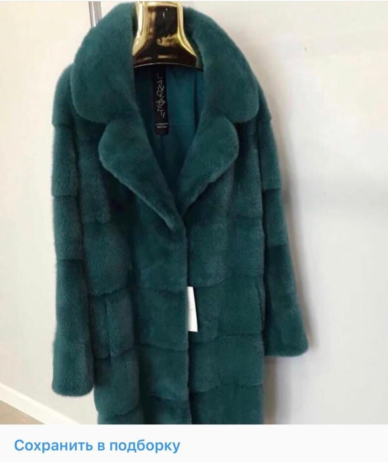 arlenesain  velveteen ,plush ,smooth mink fur women long coat emerald color