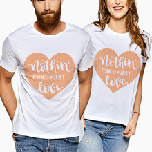 Summer Lovers Tshirt Fashion Couple T-Shirt Women Men Funny Letter Print Love T Shirts White Tees His And Hers Gifts For Loved