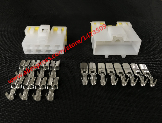 5 sets 8 pin way automotive connector electrical wiring harness