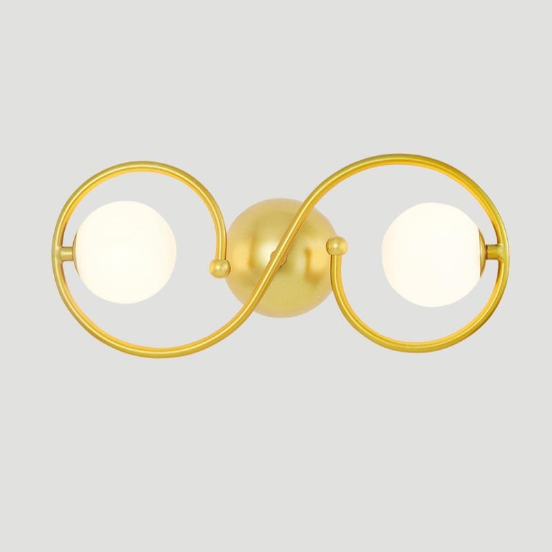 Современный краткое спальня золотой цвет Настенные светильники простой ночники творческая гостиная настенные светильники