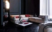Sofa Fabric French Modern Design 2013 New Living Room L Shaped Fabric Corner Sofa With Ottoman