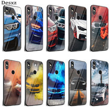 Desxz BMW Glass Case for xiaomi mi 8 Lite A1 A2 9 Redmi note 5 6 7 Pro 6A 4X Pocophone F1(China)