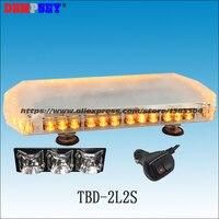 TBD 2L2S LED Emergency Warning mini lightbar,DC12V 24V truck/rescue Flashing warning light bars/Heavy magnetic base LED lights