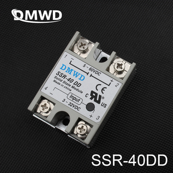 1pcs Free shipping SSR-40DD 40A  solid state relay actually 3-32V DC TO 5-60 DC SSR 40DD H relay solid state High quality digital clock