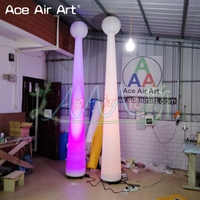 Amasing 3m H led decoration inflatable Magic wand,Cone star the balloon,standing stage stadium and marquee decoration