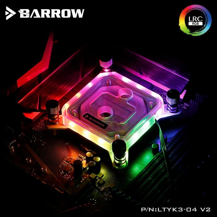 купить Barrow CPU Water Cooling Block use for INTEL Socket LGA115X Transparent Acrylic RGB Light LTYK3-04 V2 2.0 with light controller по цене 2005.93 рублей