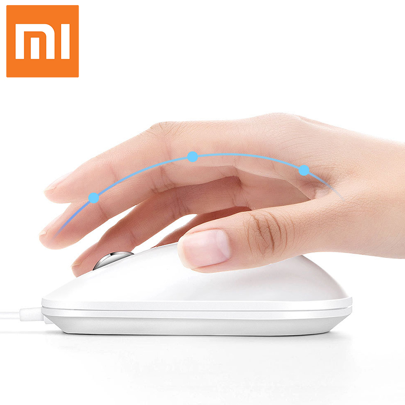 Xiaomi New Fingerprint identification Mouse USB interface for Windows10 8 1 Laptop Surface Desktop computer office Wired mouse in Mice from Computer Office