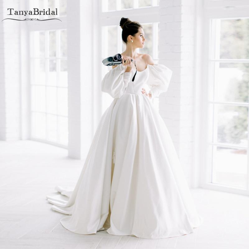 Free Spirited Dramatic Simple Wedding Dresses Elegant
