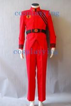 V Science Fiction Franchise Visitors Military Uniform Red Jacket Pants Halloween Cosplay Costume Outfit For Men