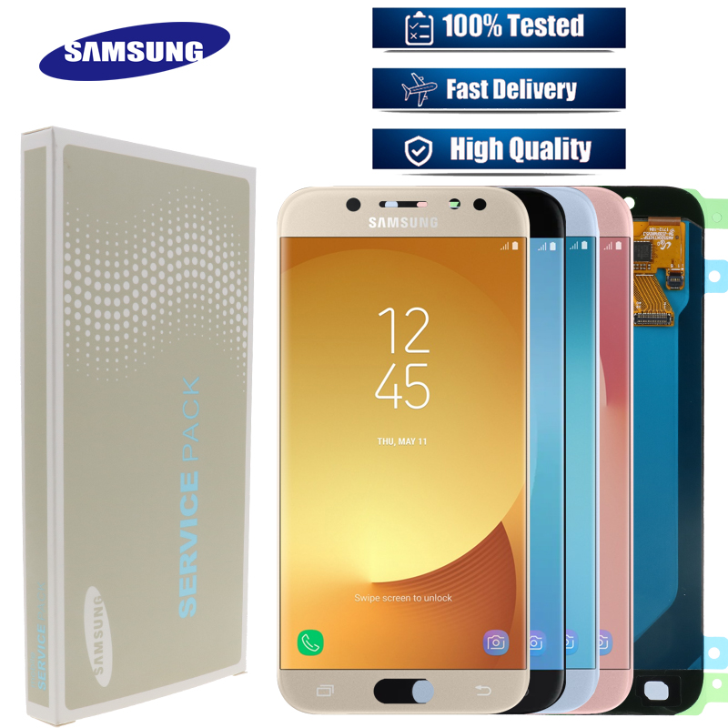 Original SUPER AMOLED 5 2 LCD Replacement Display for SAMSUNG Galaxy J5 PRO 2017 J530 J530F