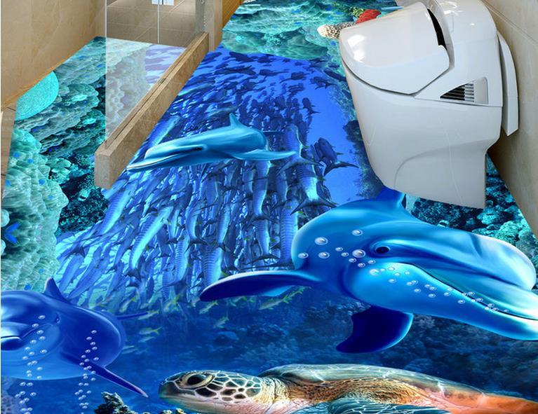 Online get cheap 3d vinyl printing for Custom vinyl mural prints
