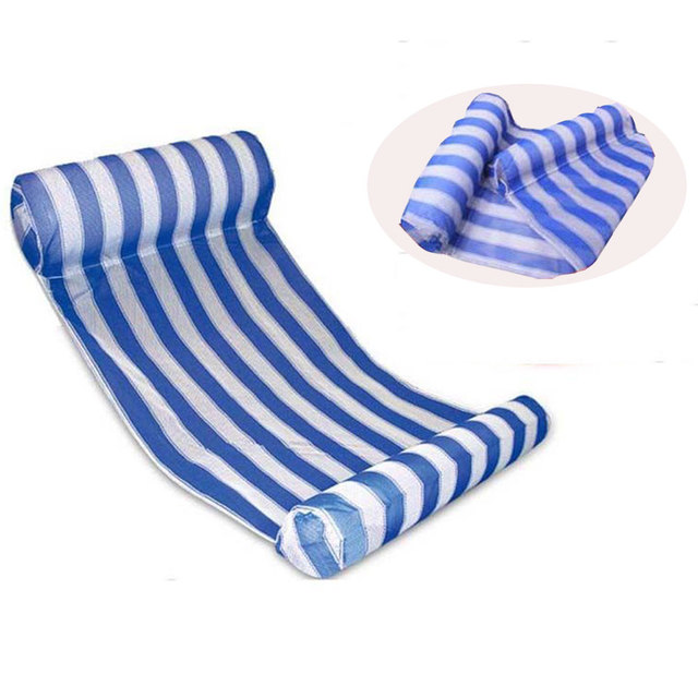 Stripe Swimming Pool Floats Air Mattress Inflatable Sleeping Bed Water Hammock Lounger Chair Float Swimming Pool Accessories