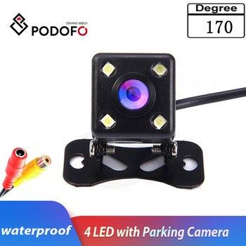 Podofo автомобильный ПЗС HD Автомобильная резервная камера заднего вида монитор заднего вида парковочная помощь универсальная камера Фронтал...