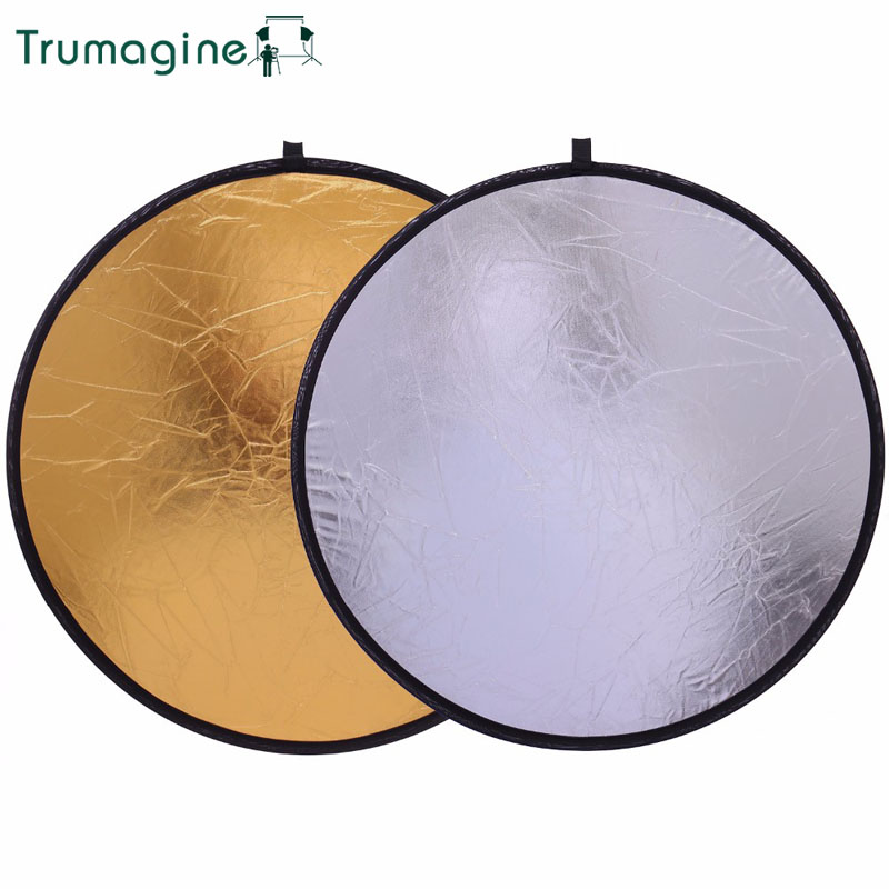 """50CM/20"""" 2 In 1 Portable  Light Round Reflector Collapsible Photography Studio Reflector Shooting Light Reflector For Photo"""