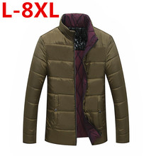 2017 new big size Hot Sale Men Winter Splicing Cotton-Padded Coat Jacket Winter plus Size 8XL 7XL 6XL 5XL Parkas High Quality