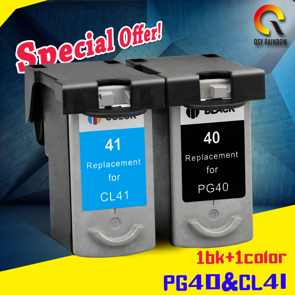 2pcs PG-40 CL-41 Compatible Ink Cartridge PG40 For Canon Pixma MP140 MP150 MP160 MP180 MP190 MP210 MP220 MP450 MP470 printer color ink jet cartridge for canon printers 821 820 series