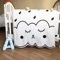 Free shipping 130X90cm Newborn Baby Blanket 100%Cotton White Bedding Cartoon Kids summer quilt Sofa Floor Playing Carpet Mats