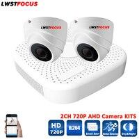 LWSTFOCUS 4CH 1080N CCTV DVR Kit 2pcs AHD 720P CCTV Camera Security System Dome Indoor IR