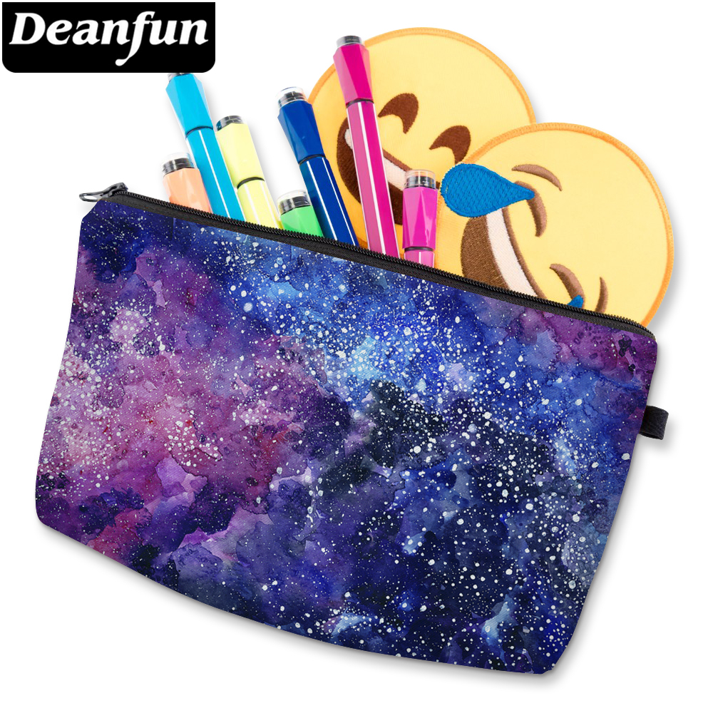 Deanfun 3D Printed Cosmetic Bags Space Pattern Women Makeup Organizer For Travelling 51244