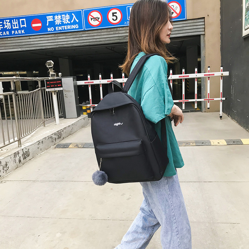 Image 4 - Trend Women Backpack Korea Style Female College Students Back Pack Schoolbag For teenager Girls Letter Printing Girls Knapsack-in Backpacks from Luggage & Bags