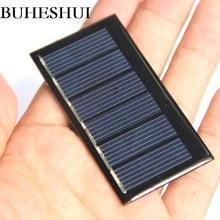 BUHESHUI 0,24 Вт 3В солнечная батарея эпоксидный поликристаллический DIY зарядное устройство Модуль мини солнечные панели игрушка исследование 10 шт