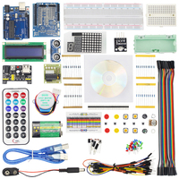 Starter Kit Step Motor Servo 1602 LCD Switch Infrared Receiver Breadboard Jumper Wire Sensor Module For