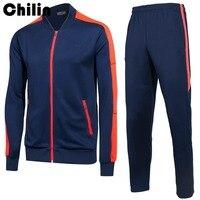 Men Tracksuits Winter 2 Piece Set Hoodie Without Hood Pants Running Set Sportswear Sport Suits Zipper