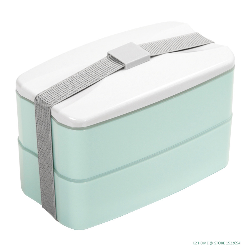 BPA Free Reusable Lunch Bento Box with Cutlery Food Storage Canteen Fashion Style Lunchbox 3 Colors