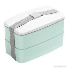 BPA Frei Wiederverwendbaren Mittagessen Bento Box mit Besteck Lagerung Von Lebensmitteln Kantine Mode Stil Lunchbox 3 Farben für Wahl