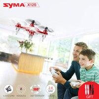 SYMA X12S Nano de Bolso Mini RC Zangão Helicóptero De Controle Remoto Modo Headless Quadcopter 4CH 6 Axis Gyro 360 Eversão Interior brinquedo