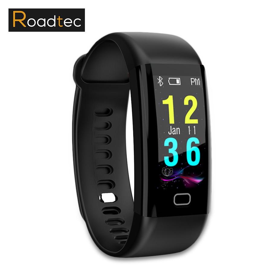 ROADTEC smart band/bracelet moniteur de fréquence cardiaque sang pression bracelet étapes pedometro smartband Anti-perdu fitness tracker