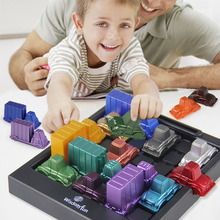 Rush Hour IQ Car Logic Game Toy Educational Puzzle Toy Creative Plastic Board Game Racing break car Toys For Children iq car intelligence racing puzzle board game funny entertainment game play family party children educational toys